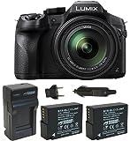 Panasonic LUMIX DMC-FZ300K , 4K Video, Splash & Dustproof Body, Leica DC Lens 24X F2.8 Zoom (Black) Bundle