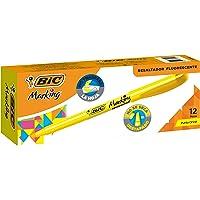 BIC Highlighter Grip, Subrayadores Fluorescentes con la Tecnología Antisecado, Óptimo para Uso Escolar y de Oficina…