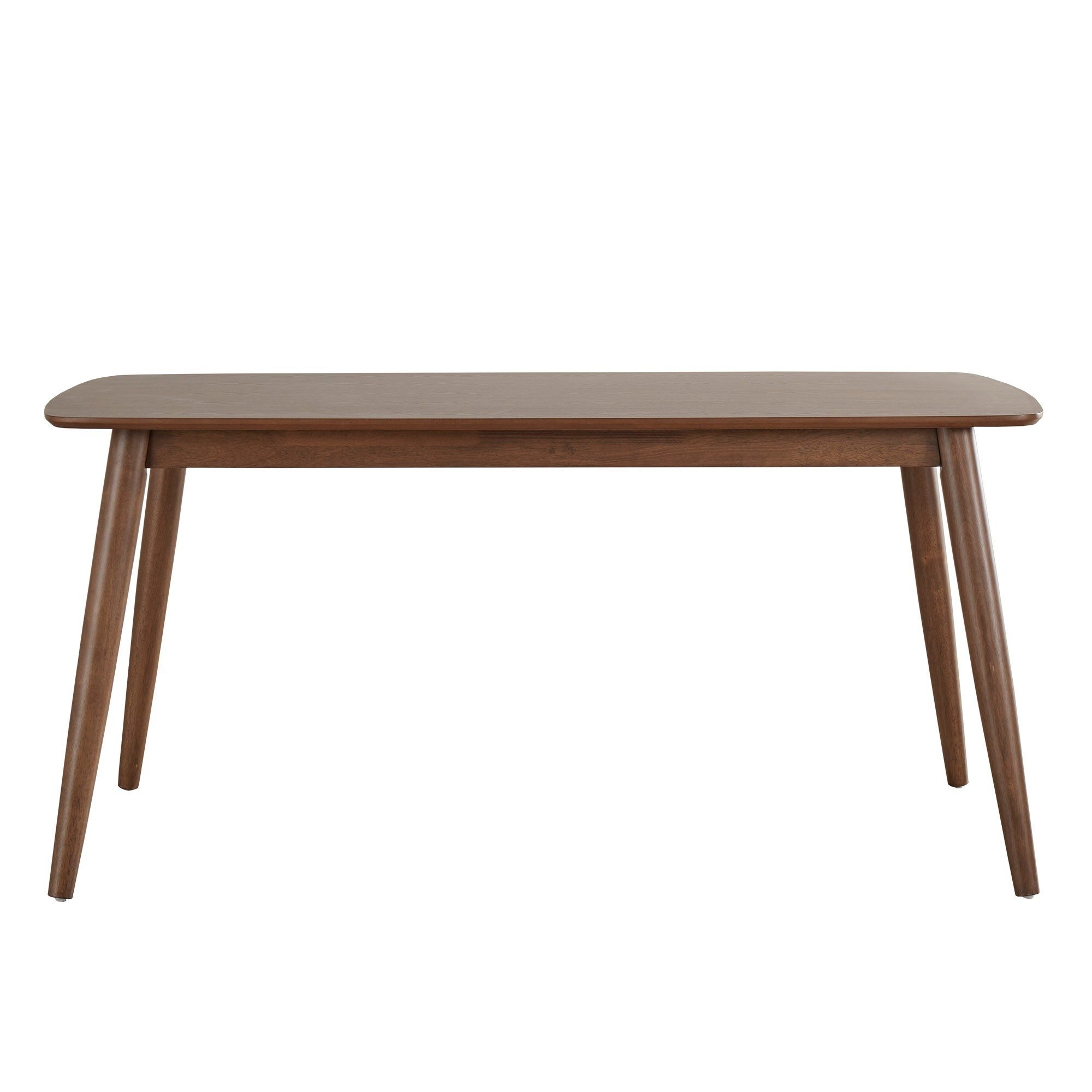 Mid Century Modern Wood Dining Table with Beveled Edges ...