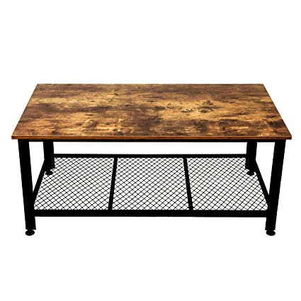 Amazon.com: IRONCK Industrial Coffee Table for Living Room, Tea ...