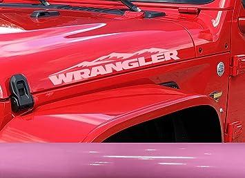 2 of Jeep YJ design mountain Decal Wrangler logo Stickers