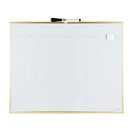 Amazon Com U Brands Magnetic Monthly Calendar Dry Erase Board 20