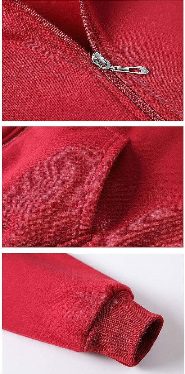 REPPUNK Mens Warm Fleeced Full-Zip Closure Solid Casual Long Sleeve Drawstring Hoodie