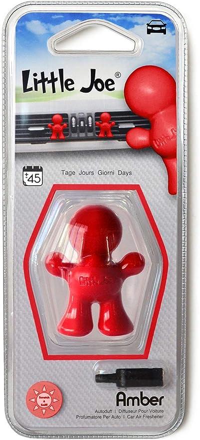 Little Joe By Sunstop Made In Italy Lufterfrischer 45 Tage Frische Im Fahrzeug Einfach Mit Dem Beiliegenden Clip Auf Den Lüftungsschlitz Fixieren Amber Rot Auto
