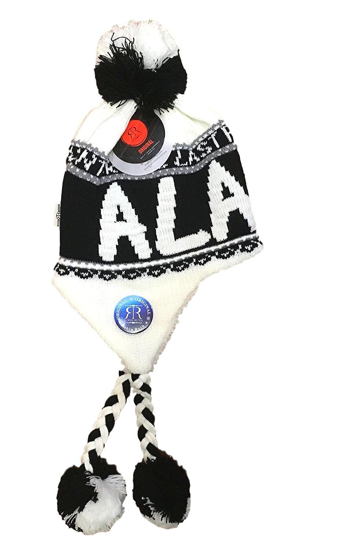 Robin Ruth Alaska Helmet Hat W/Tassel Quality Black & White