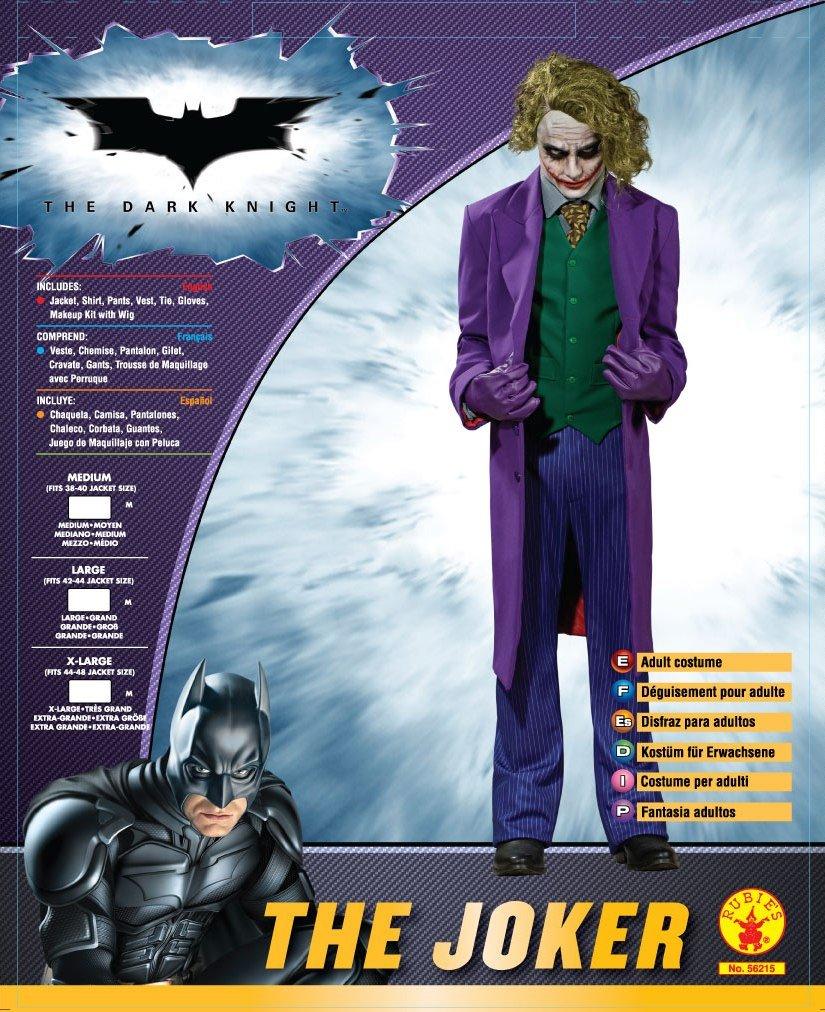 Rubie\u0027s 56215L Official Grand Heritage Costume du Joker Dark Knight , pour  Adulte , Taille L Amazon.fr Jeux et Jouets