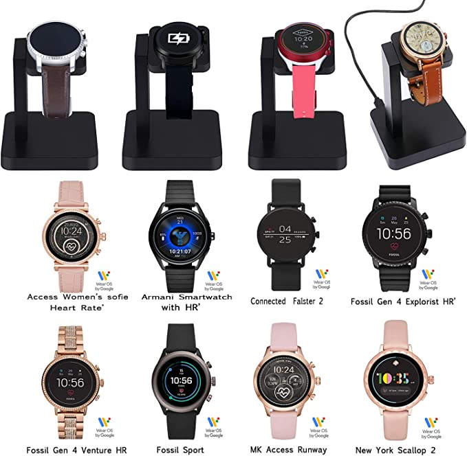 Balerion Replacement Watch Charger,Compatible with Fossil gen 5/4 Smartwatch Explorist/Venture HR,Charging Dock for Michael Kors Access Runway,Skagen ...