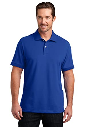 District Made - Polo elástico para hombre Azul azul cobalto S ...