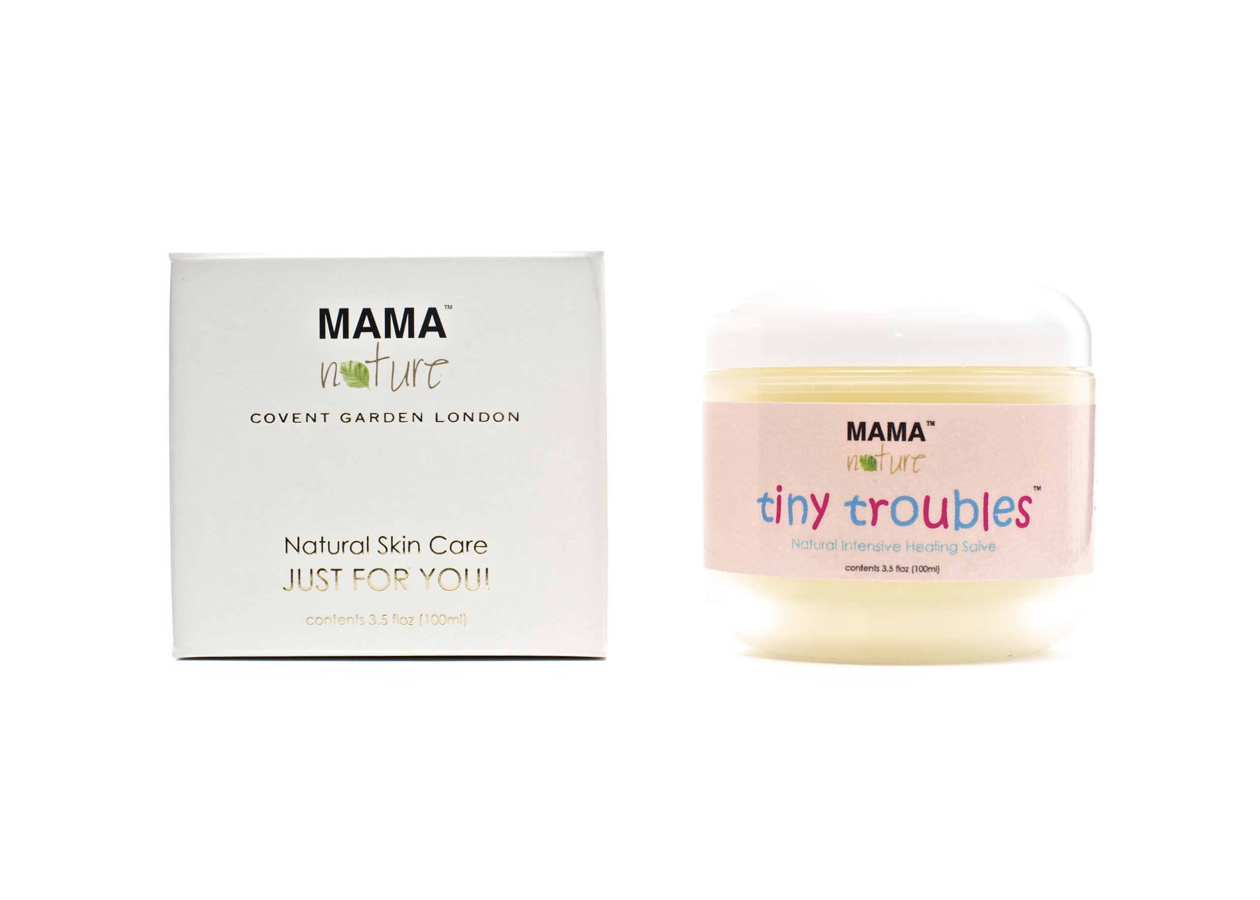 Tiny Troubles Natural Intensive Healing Salve by Mama Nature of London (3.5 floz) - Diaper Rash,Baby Eczema,Baby Psoriasis,Baby Rosacea,Dry Skin,Sweat Rash by Mama Nature of London