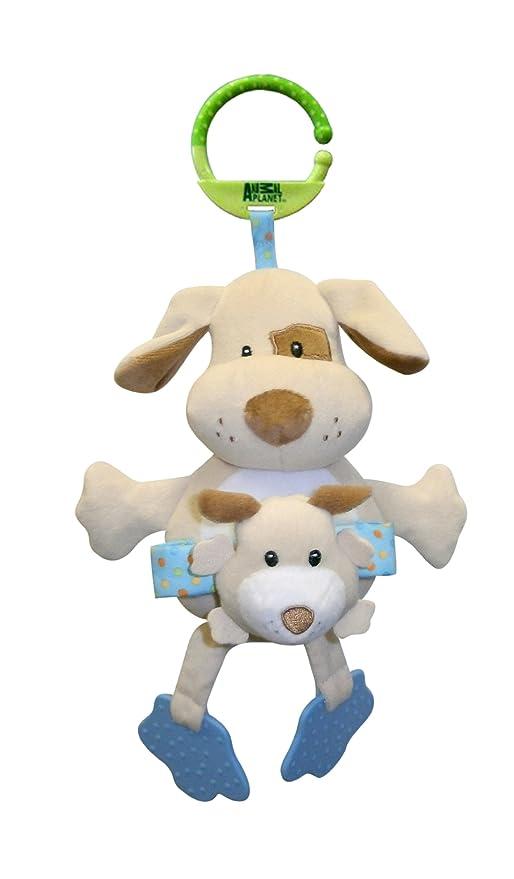 Animal Planet Mamás y Bebés - juguete con sonajero para colgar en el cochecito