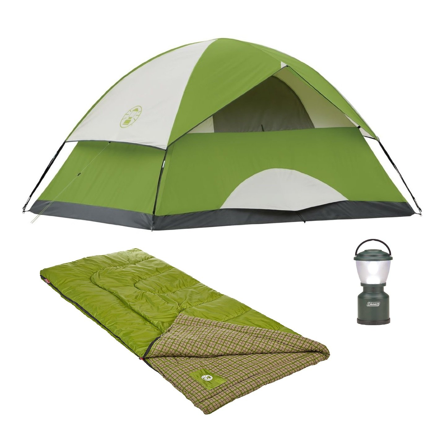 Bundle-of-3-includes-Sundome-4-Person-Tent-Cool-Weather-Adult-Sleeping-Bag-and-LED-Camp-Lantern