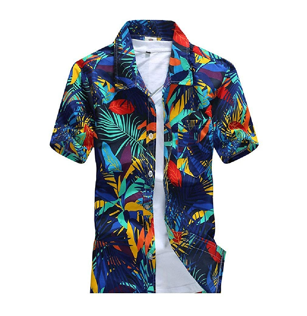 RDHOPE-Men Fit Quick Dry Flyaway Casual Loose Classic-Fit Woven Shirt