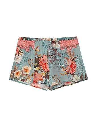 4184bb8321e8 Intimissimi Womens Japanese Summer Satin Shorts: Amazon.co.uk: Clothing