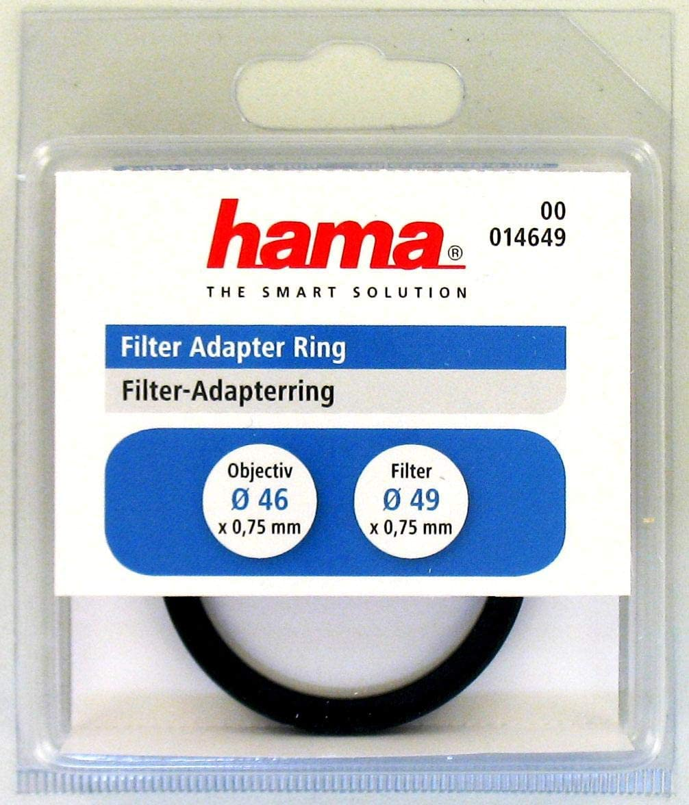 Hama Filter Adapter Ring for 46mm Lens and 49mm Filter