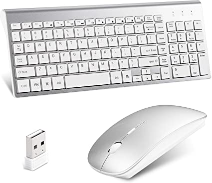 Black Wireless Mini Ultra Slim Keyboard and Mouse For Easy Smart TV Contol for LG 42LA6200 3D LED Smart TV