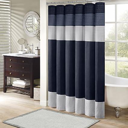 Amazoncom Madison Park Mp70 2206 Amherst Shower Curtain 72x72 Navy