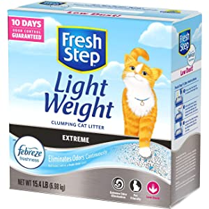 Fresh Step Lightweight Extreme Scented Power of Febreze Clumping Cat Litter