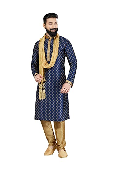 Amazon Com Kurta Pajama For Men Indian Designer Wedding Partywear