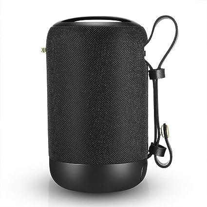 Enceinte Bluetooth Portable, 20W Enceinte Bluetooth Waterproof Haut-Parleur sans Fil, Pilote Double, Son 360° Basses Puissantes, Carte TF Support, Autonomie de 12 Heures pour Camping l'extérieur