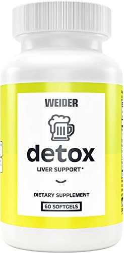 New Weider Detox – The Perfect Wingman for a Night Out, Power Antioxidant s targeted to Support The Liver, Milk Thistle, Mulberry Leaf, Eclipta Extract, Schizandra Berry, 1 Month Supply, 60count
