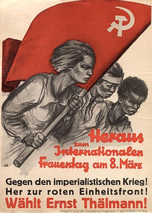 Alemán de entreguerras Propaganda Comunista con Vintage ...