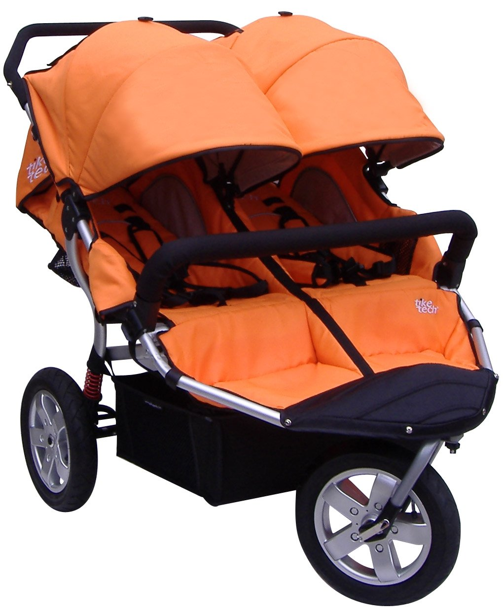 Tike Tech Double City X3 Swivel Stroller, Autumn Orange