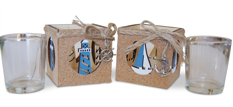 Amazon.com: Shoreside náutico 2 piezas Faro & Velero corcho ...
