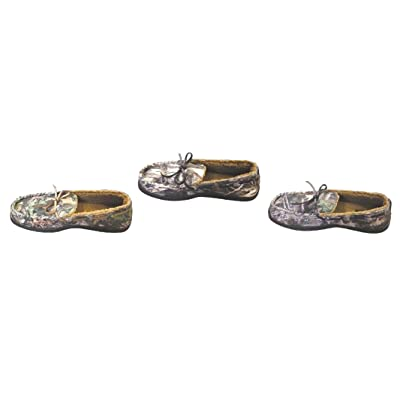 True Timber Camo Men's Camouflage Memory Foam Moccasin Slippers for Men (Small 7-8) | Slippers