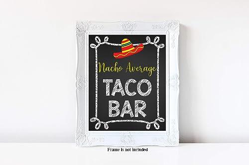 Mojito Bar Sign Fiesta Bachelorette Decor Taco Party Printable Sign Mojitos and Tacos Sign Taco Bridal Shower Sign Taco Bar Decor