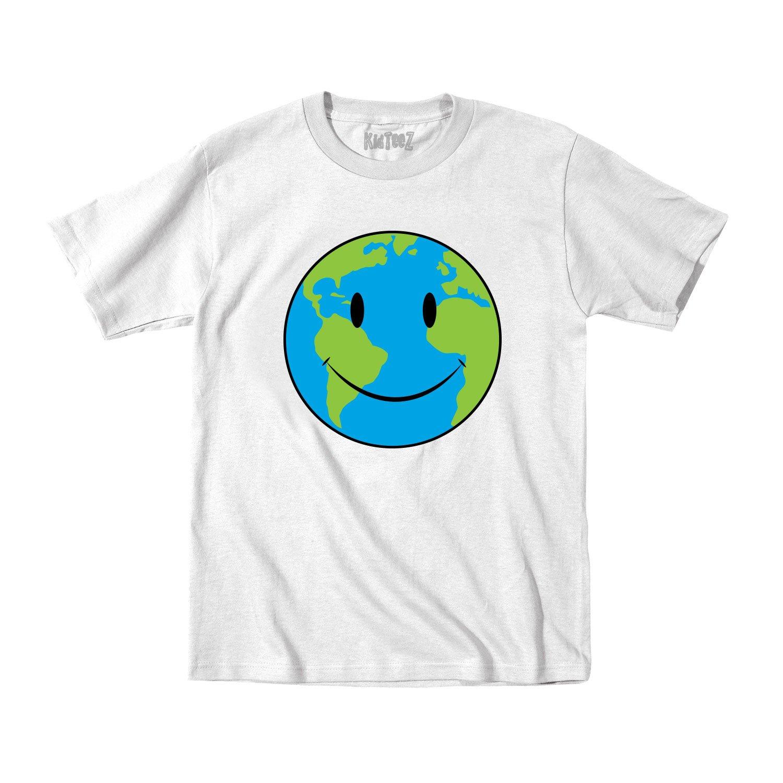 Earth Smile Earth Day Environt Funny Novelty Tshirt
