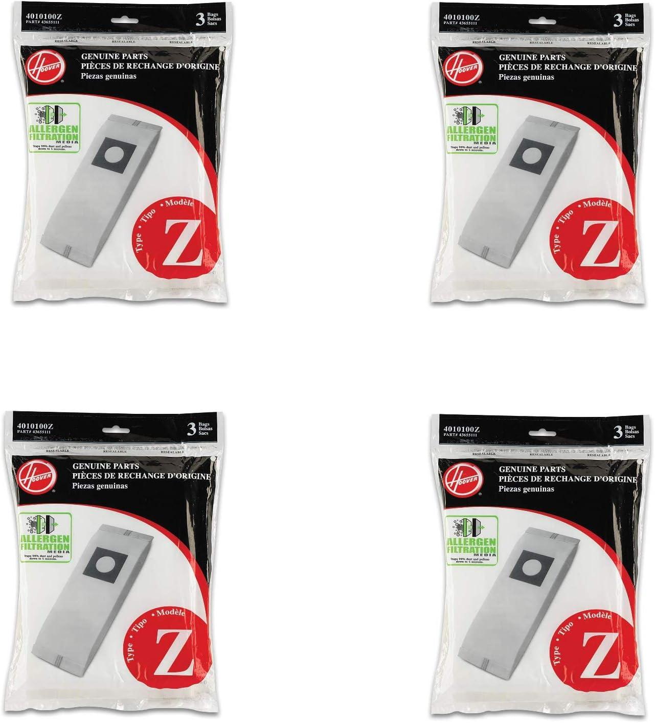 Hoover Type Z Allergen (3-Pack), 4010100Z Allerg Bag (4)