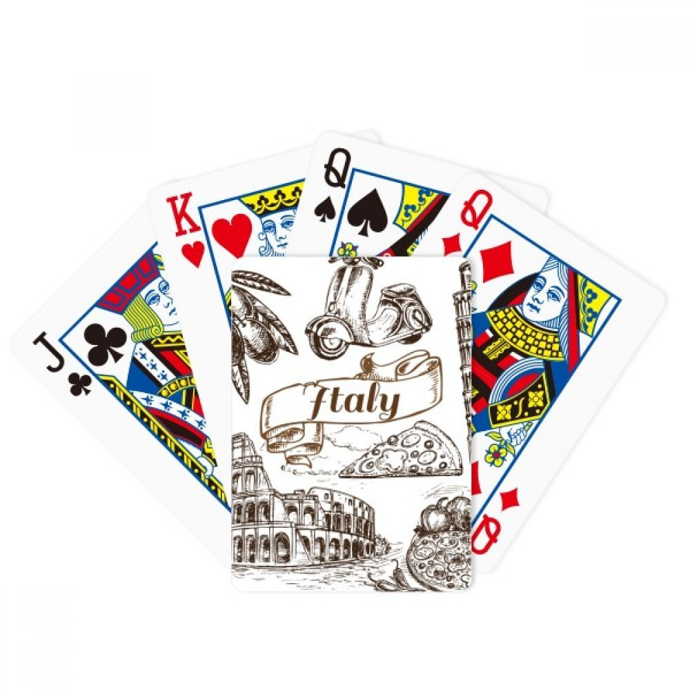 Italy Famous Landscape Travel Places Pattern Poker Playing Cards Tabletop Game Gift by beatChong