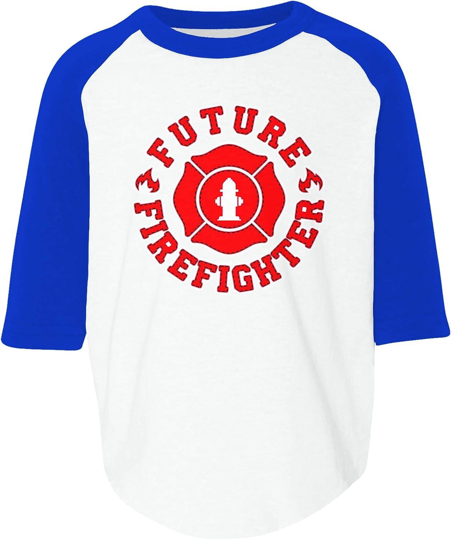 Amdesco Future Firefighter Toddler Raglan Shirt