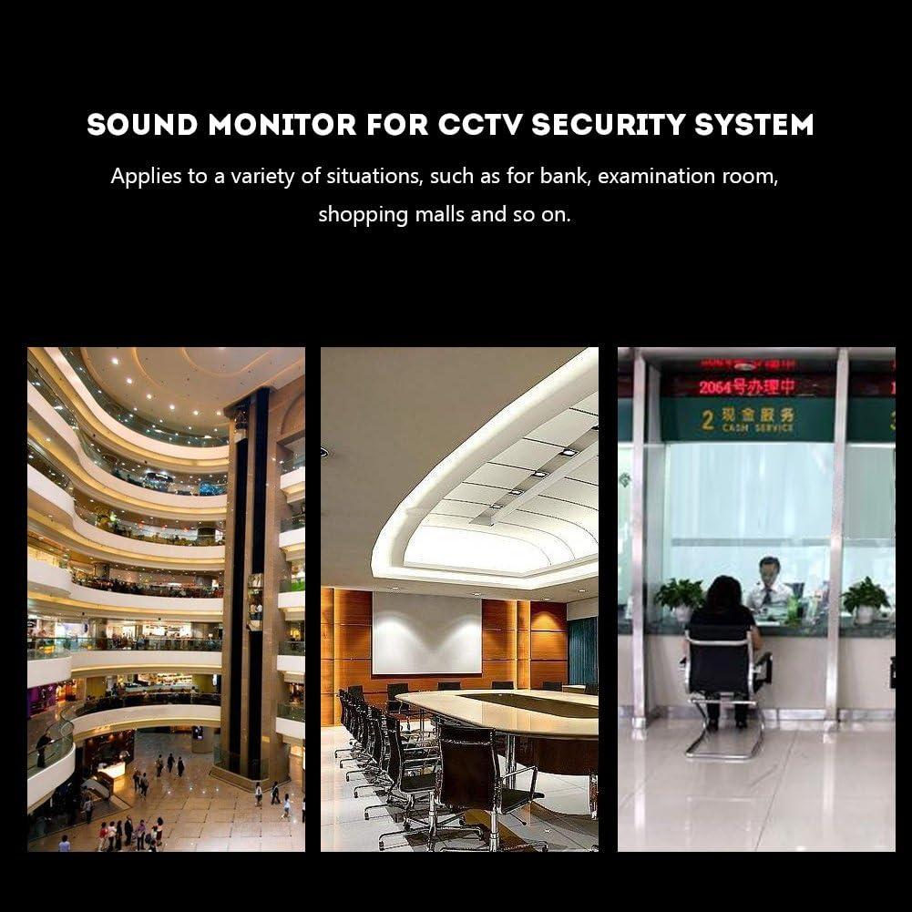 Yoidesu CCTV Surveillance Microphone 100 m 2 Wide Range HiFi Audio Pickup Microphone for CCTV Security