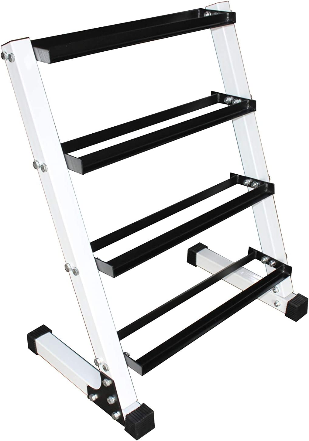 Ader Sporting Goods 4 Tier 24 Dumbbell Rack-Hold 8-9 Pair Dumbbells