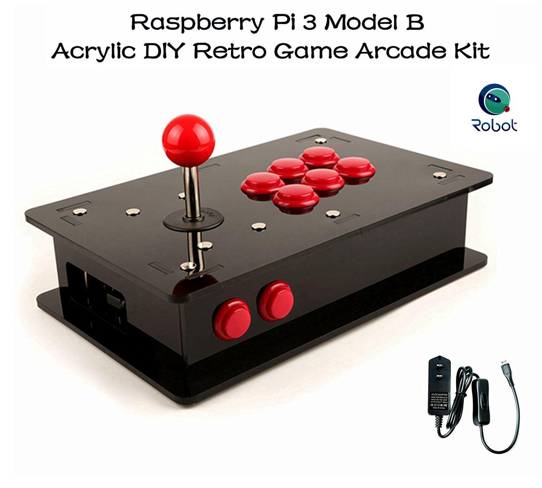 CQRobot Raspberry Pi 3 Model B - Acrylic DIY Retro Game Arcade Kit.