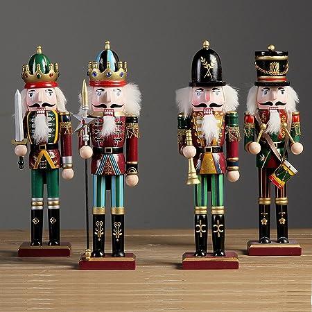 belukies Soldato schiaccianoci , 60CM Soldato di Schiaccianoci di Legno Alto su Supporto Regalo di Soldato di Schiaccianoci di Natale Normal
