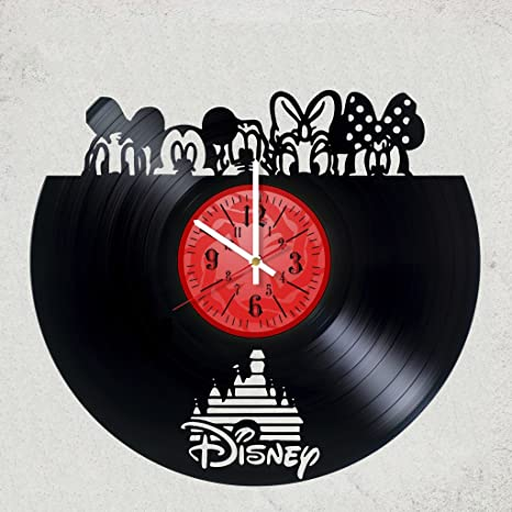 Amazon Com Home Decor Usa Walt Disney Vinyl Wall Clock Best Gift