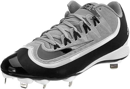 Nike Huarache 2KFilth Pro Low Men's Baseball Cleats, Size 7.5 Wolf Grey,  Black, White