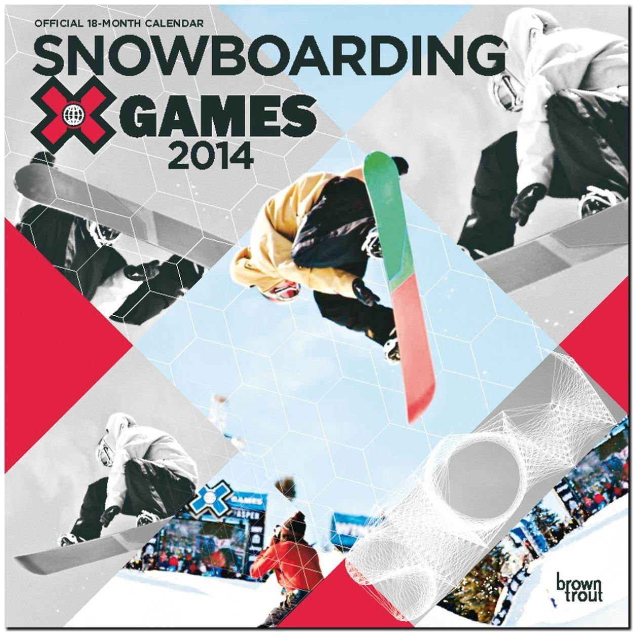 Snowboarding 2014 - Snowboarden: Original BrownTrout-Kalender [Mehrsprachig] [Kalender]