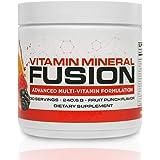 Vitamin Mineral Fusion (30 Servings, Fruit Punch) – Platinum Multivitamin Powder Mix - 34 Essential Vitamins, Minerals, Amino Acids to Boost Immunity & Energy