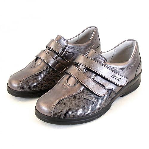 Stuppy Damen Schuhe Halbschuhe Leder Stretch Taupe 11154