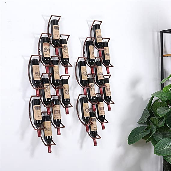 Amazon.com: Shelf Wall Mounted Wine Racks Hanging Wine ...