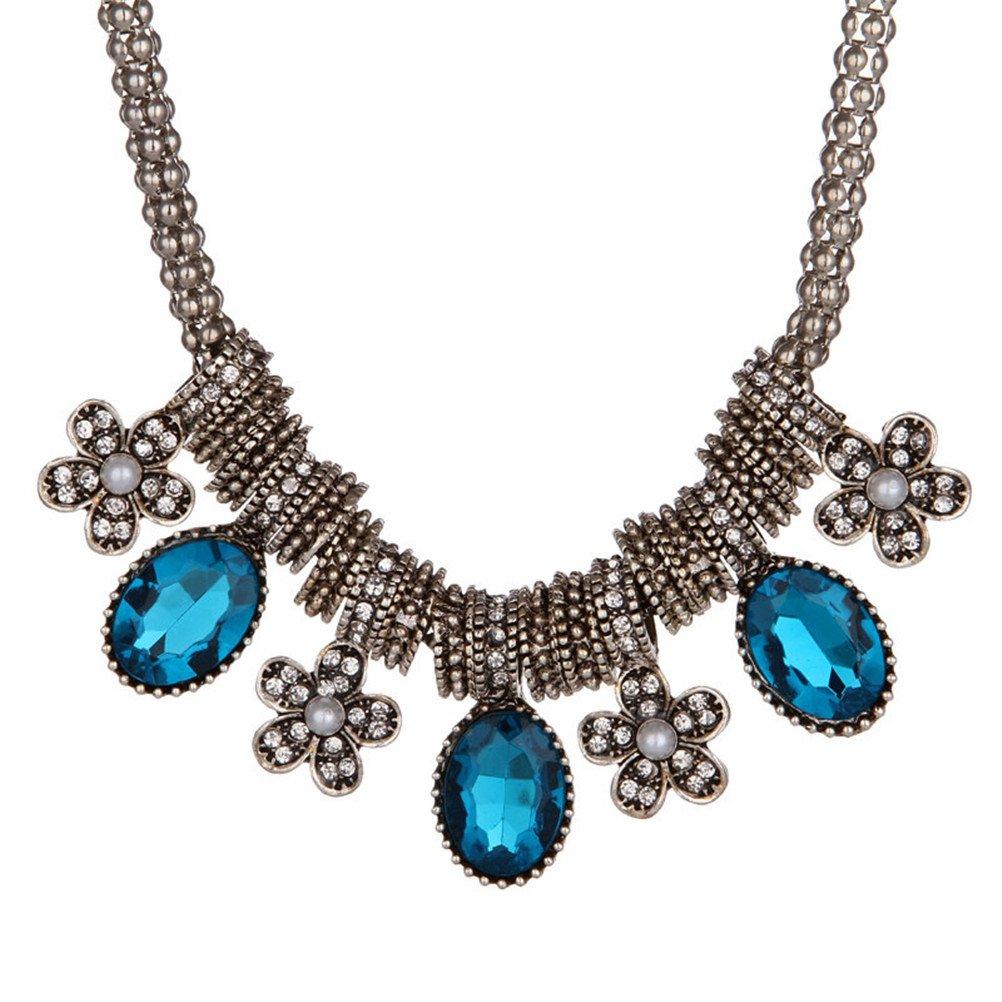 Women Bohemian Long Ethnic Tribal Geometry Necklace Gift For Women Girl Mom Friend
