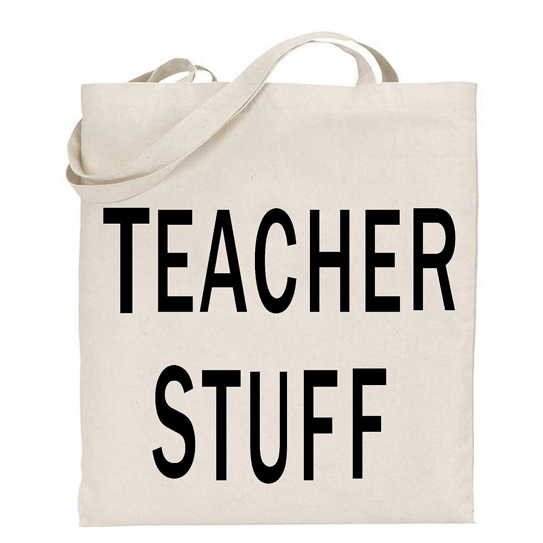 tigerlilyprints Lehrergeschenk Dankesch/ön Lehrertasche Shoppertasche Geschenk zum Jahresende Buchtasche schwarzer Text