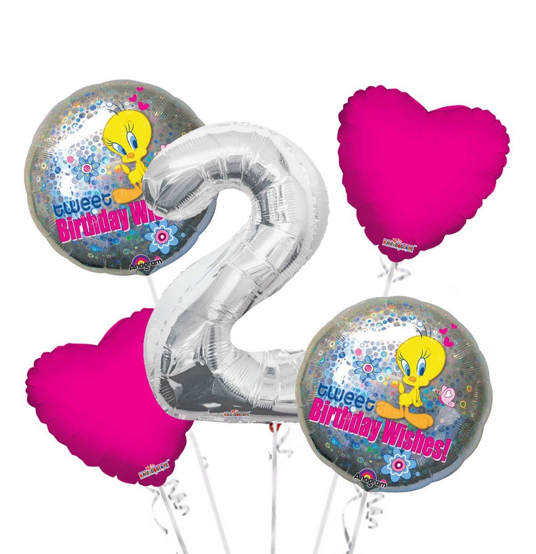 Amazon Tweety Bird Birthday Wishes Balloon Bouquet 2nd 5 Pcs
