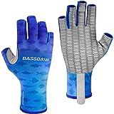 Bassdash ALTIMATE Sun Protection Fingerless Hunting Fishing Gloves UPF 50+ Men's Women's UV Gloves for Kayaking Paddling Hiki