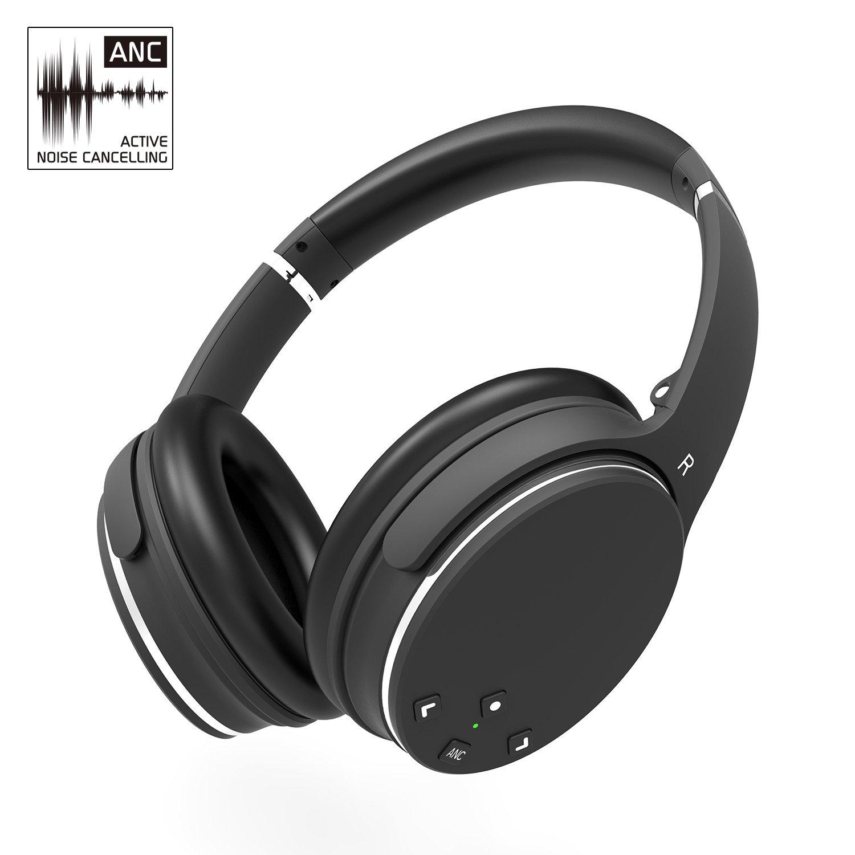 Cuffie Bluetooth Auricolari AXCEED Antenna Attiva a Cancellazione delle Over-ear Stereo ANC Senza Fili Wireless Headphones Pieghevoli Telecomando con Cavo Integrato a Microfono Staccabile