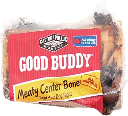 Castor Pollux Dog Treat Meaty Bone 4 inches – 1 Bone 5oz