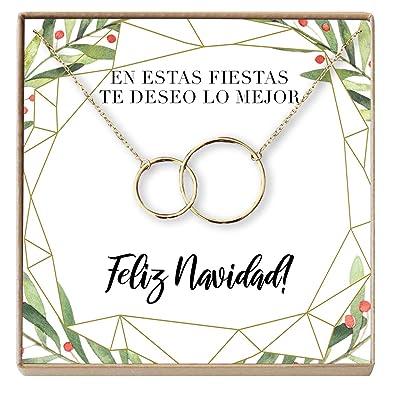 Dear Ava Collar Regalo de Navidad y Reyes: para Mujer, Hija, Tia,